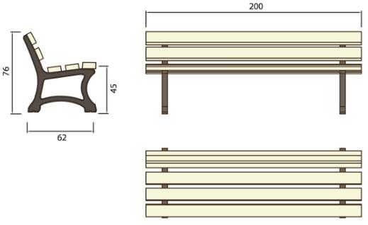 banc public en plastique recycl dmc direct. Black Bedroom Furniture Sets. Home Design Ideas