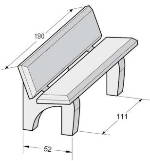 mobilier urbain banc public en b ton arm banc public en b ton nino dmc direct. Black Bedroom Furniture Sets. Home Design Ideas